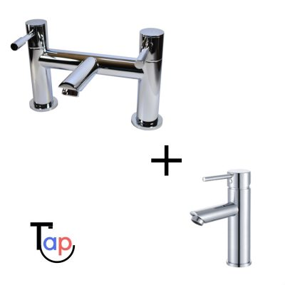 Kilfane Bath Mixer & Laune Basin Tap Set