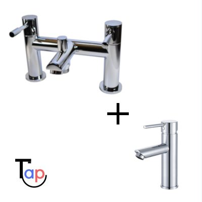 Kilfane Bath Shower Mixer & Laune Basin Tap Set